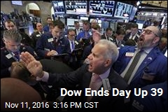 Dow Ends Day Up 39