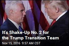 It's Shake-Up No. 2 for the Trump Transition Team