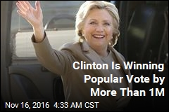 Clinton's Popular Vote Lead Tops 1M