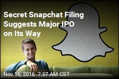 Secret Snapchat Filing Suggests Major IPO on Its Way