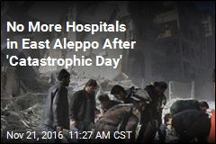 No More Hospitals in East Aleppo After 'Catastrophic Day'