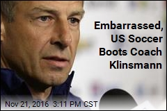Embarrassed, US Soccer Boots Coach Klinsmann