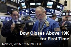 Dow Closes Above 19K for First Time