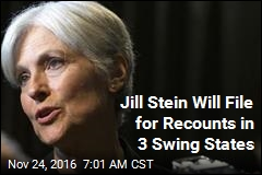 Jill Stein Raises $2.5M, Will Seek Recounts in 3 Swing States