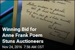 Winning Bid for Anne Frank Poem Stuns Auctioneers