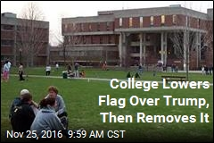 Massachusetts College Abandons US Flag, for Now