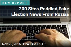 200 Sites Peddled Fake Election News From Russia