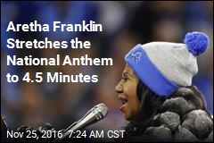 Aretha Franklin Stretches the National Anthem to 4.5 Minutes