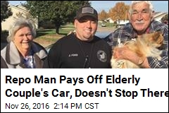 Rare Repo Man With a Heart Is Elderly Couple's Hero
