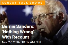 Bernie Sanders: 'Nothing Wrong' With Recount