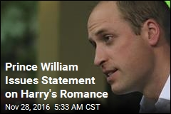 Prince William Issues Statement on Brother's Romance