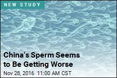 China's Sperm Seems to Be Getting Worse