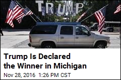 Trump Is Declared the Winner in Michigan