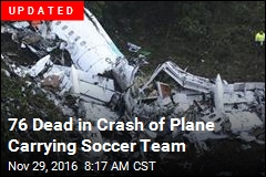 Plane Carrying Soccer Team Crashes in Colombia