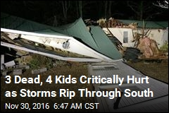 3 Dead, 4 Kids Critically Hurt as Storms Rip Through Ala.