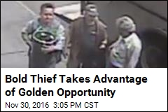 Bold Thief Takes Advantage of Golden Opportunity