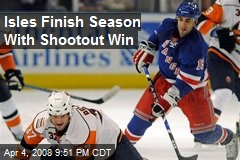Isles Finish Season With Shootout Win
