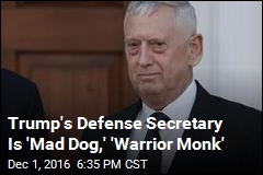 James 'Mad Dog' Mattis Is Trump's Defense Sec: Sources