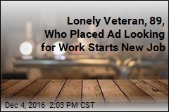 Lonely Veteran, 89, Who Placed Ad Looking for Work Starts New Job
