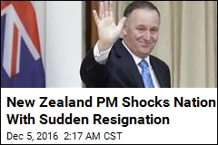 New Zealand PM Abruptly Announces Resignation