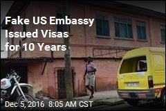 Fake US Embassy Issued Visas for 10 Years