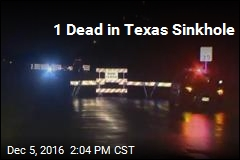 1 Dead in Texas Sinkhole