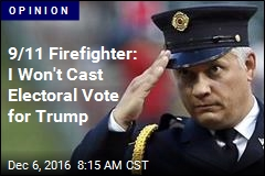 9/11 Firefighter: I Won't Cast Electoral Vote for Trump