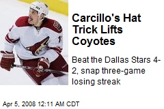 Carcillo's Hat Trick Lifts Coyotes