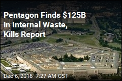 Pentagon Buried Study Exposing $125B in Administrative Waste