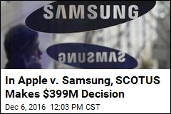 Supreme Court Picks Samsung Over Apple in $399M Case