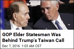 Key Figure Behind Trump's Taiwan Call: Bob Dole