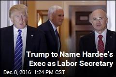 Trump to Name Hardee's Exec as Labor Secretary