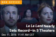 La La Land Nearly Sets Record—in 5 Theaters