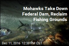 Mohawks Take Down Federal Dam, Reclaim Fishing Grounds