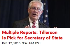 Multiple Reports: Tillerson Is Pick for Secretary of State