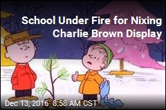 School Under Fire for Nixing Charlie Brown Display