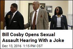 Bill Cosby's Joke as He Enters Courtroom: 'Don't Tase Me, Bro'