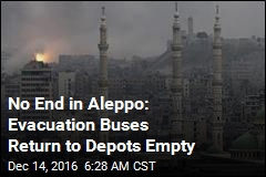 Aleppo Fighting Halts Evacuation