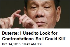 Philippines President: I've Killed Criminals Myself