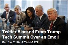 Twitter Blocked From Trump Tech Summit Over an Emoji