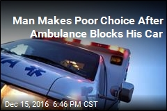 Cops: Man Tried to Move Ambulance Blocking His Car