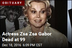 Actress Zsa Zsa Gabor Dead at 99