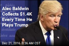 Alec Baldwin Collects $1.4K Every Time He Plays Trump