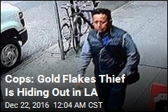 Cops: Gold Flakes Thief Is Hiding Out in LA