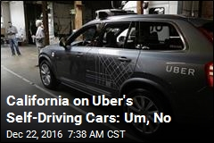 California Stops Uber's Self-Driving Cars