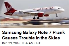 Samsung Galaxy Note 7 Prank Causes Trouble in the Skies