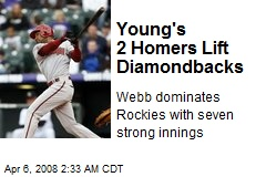 Young's 2 Homers Lift Diamondbacks