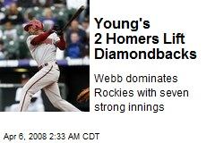 Young's 2 Homers Lift Diamondbacks