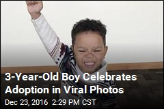 3-Year-Old Boy Celebrates Adoption in Viral Photos