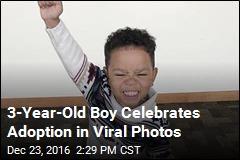 3-Year-Old Boy Celebrates Adoption in Viral Photos